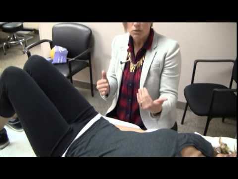Demonstration of Pelvic Floor Muscle Exercises to prevent urinary incontinence