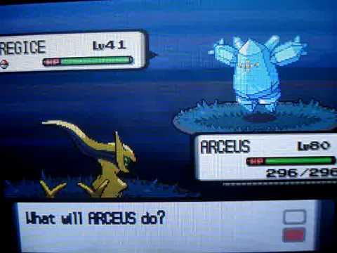 Catching Shiny Registeel Regice and Regirock Pokemon Diamond Action Replay