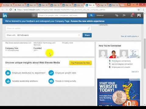 Linkedin Company & Business Page Creation Video Tutorial Tips