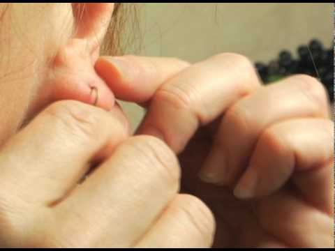 How to use a simple lever back earring that always stays in.