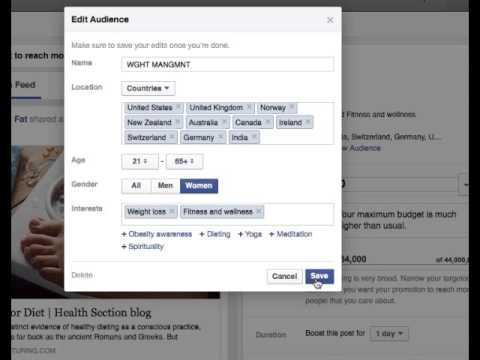 Facebook: Edit Audience