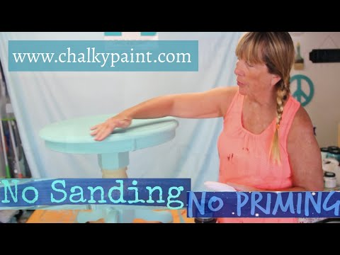 How to Paint Furniture Without Sanding or Priming using Chalky Paints