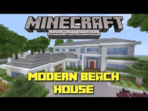 Minecraft Xbox 360: Modern Beach House! Miami Style! (House Tours of Danville Episode 28)
