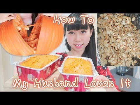 My Mother in Law Teaches me CookingEp1! Making Pumpkin Bread&Seeds | Cook Fresh Pumpkin