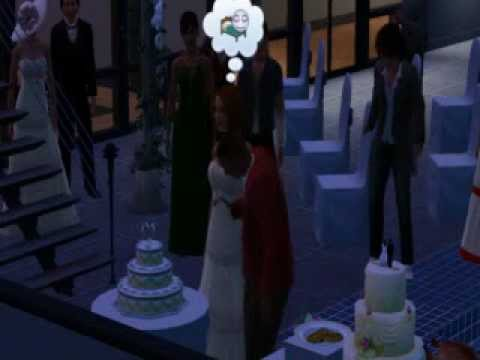 Sims 3 Wedding - Cutting the Cake