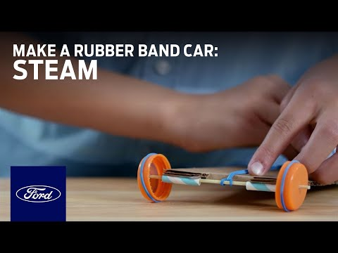 Science in a Snap: Make a Rubber Band Car | STEAM | Ford