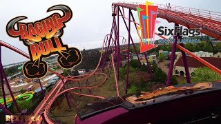 Raging Bull (Six Flags Great America 2018) 4k Front Seat pov