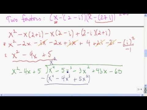 Factoring with complex zeros