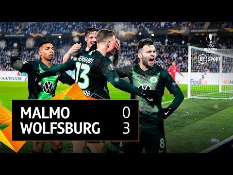 Malmo vs Wolfsburg (0-3) 1-5 Agg. | Europa League Highlights