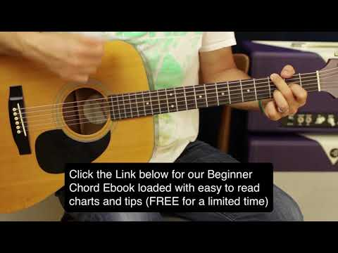 Keith Urban Acoustic Guitar Riff and country strumming lesson (4 guitar chords)