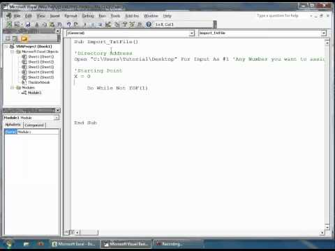 Excel VBA - How to Import Data From a Text File