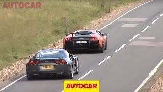 Corvette ZR1 vs Lambo SV by autocar.co.uk