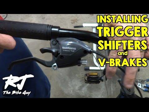 Installing Trigger Shifters/V Brake Levers On Mountain Bike