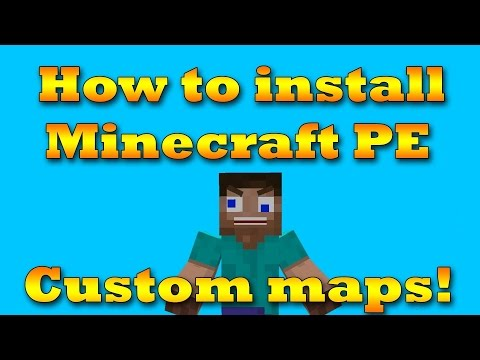 How to get minecraft pe maps no jailbreak or computer!!!!!!!