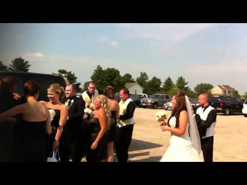 Jared & Chelsey's Wedding Day - Prison bus