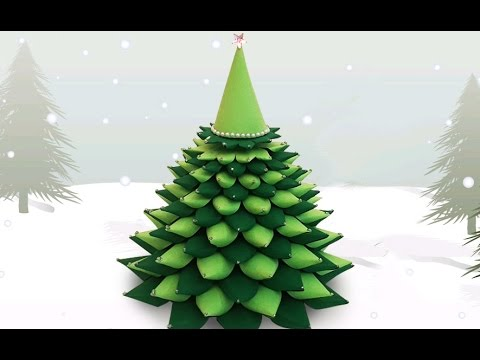 3d paper christmas tree how to make a diy paper christmas tree x - How To Make 3d Christmas Decorations