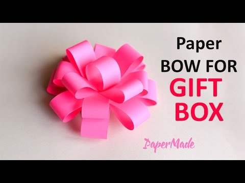 How to Make Bow Flower For Gift Box | Origami | DIY | Craft | PaperMade