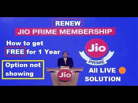 How to get Jio prime membership Free for one year | Not sowing option | Resolved