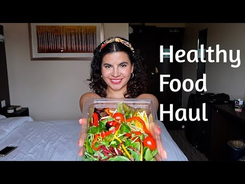 Healthy mini grocery shopping | Hotel food haul