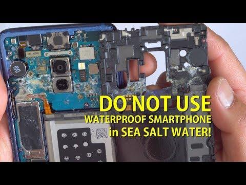 DO NOT USE Waterproof Smartphone in Sea Salt Water!