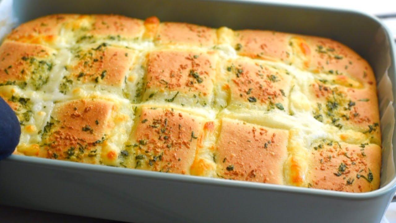 Easy Cheesy Garlic Bread in 4 Steps!Cheesy Garlic Bread Recipe Garlic bread recipe from scratch!