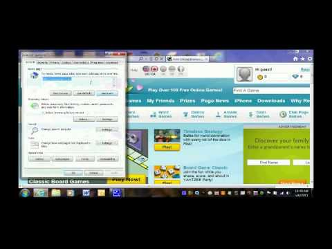 How to change your homepage in Internet Internet Explorer 9 (IE9)