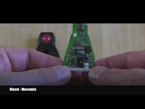 Mercedes how to take apart smart key fob