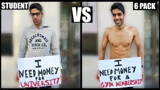 BROKE STUDENT vs 6 PACK (SOCIAL EXPERIMENT)