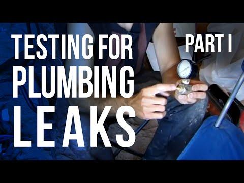 Testing for Plumbing Leaks - Part I