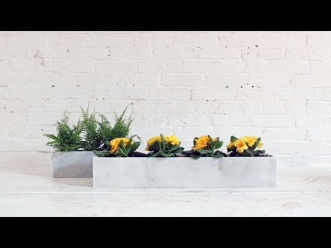 How to cut stone tiles and make marble planters