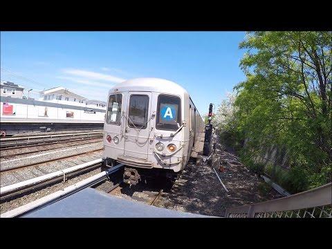 NYC Subway HD 60fps: GoPro R46 A Trains @ Howard Beach - JFK Airport (5/17/17)