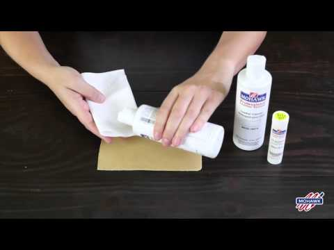 Mohawk Leather and Upholstery Stain Remover Demo (