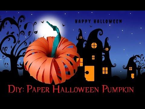 How To Make A Paper Halloween Pumpkin