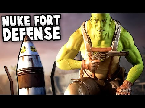 NEW Fort Defense Game!  FALLOUT Wave Defense (Band of Defenders Gameplay)