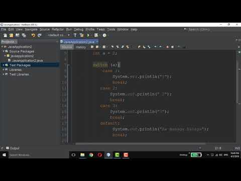 Break with Switch statement in Java