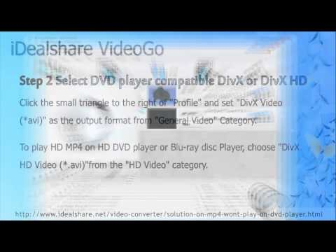 Can't Play MP4 on DVD Player Solution: Convert MP4 to DVD Player Format