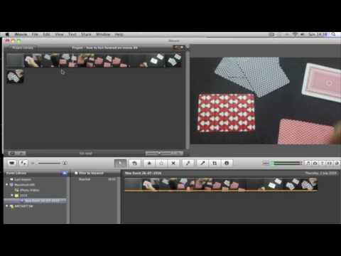 How to fast forward in IMovie 09