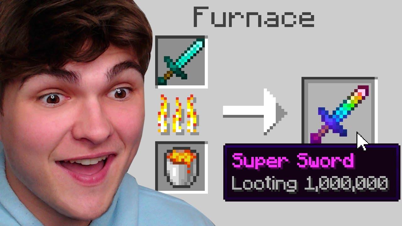 Minecraft, But Smelting Enchants Level 1,000,000...