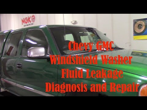 Chevy GMC Winshield Washer Fluid Leak Pump Replace