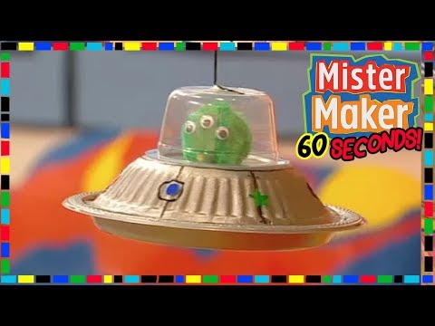 Alien Spaceship - HOW TO MAKE IN 60 SECONDS 👽 | Mister Maker
