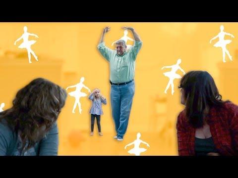 GRANDPA CAUGHT DOING BALLET!
