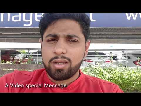 A special video message to my viewers