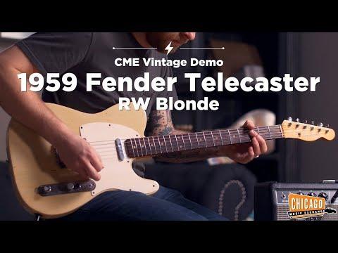 '59 Fender Telecaster Blonde | CME Vintage Demo