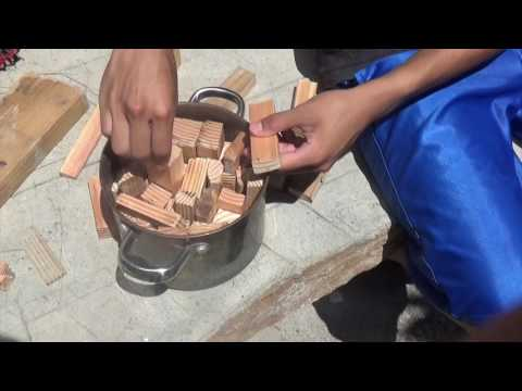 Making Charcoal from Dumpster Wood