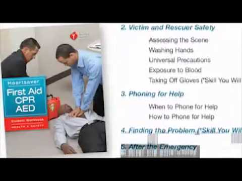 First Aid CPR AED online course demonstration