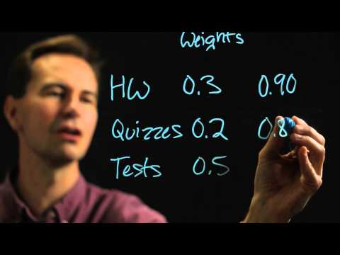 How to Add Weighted Percentages : Physics & Math