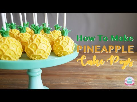 HOW TO MAKE PINEAPPLE CAKE POPS | Abbyliciousz The Cake Boutique