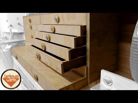 Miter Saw Station - Drawers, & Drawer Slides (part 2/3)