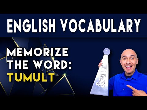 📖 How to Learn English Vocabulary Word - Tumult | Memorize College Vocab Fast | SAT Study Skills