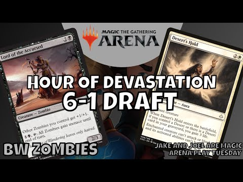 MTG Arena Draft // Six Wins Zombie Deck!! - Arena Play Tuesday - Jake and Joel are Magic